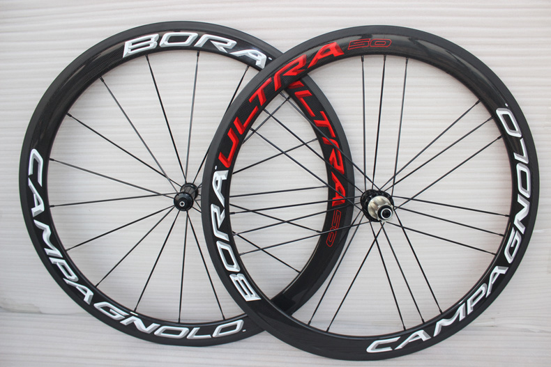 full carbon fiber wheels road bike 50mm 700c rims white red 3D decal chinese carbon bicycle wheelset clincher AERO spokes(China (Mainland))