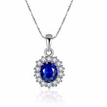 Luxury British Kate Princess Diana William Engagement Wedding purple crystal/Blue Pendant Necklace 18KGP Gold colour(China (Mainland))