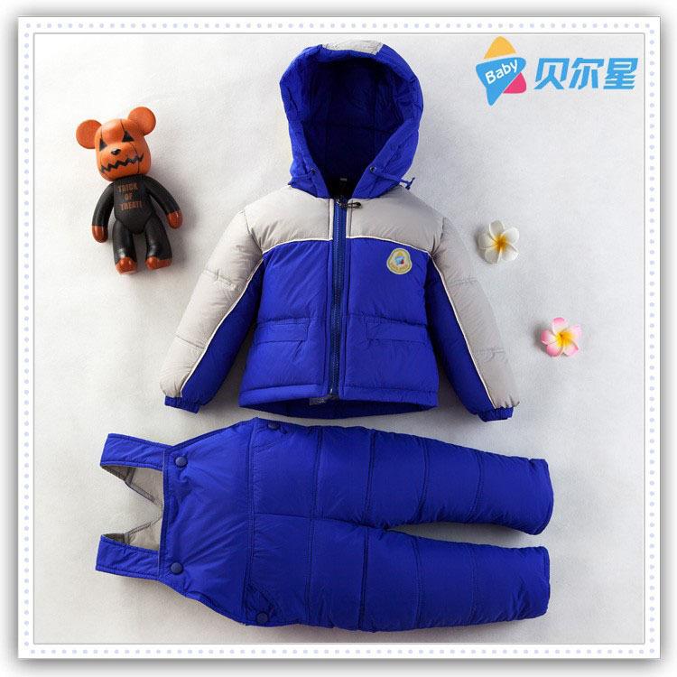 Children winter thick warm open-crotch sport clothes boys girls down jacket + bib pants snowsuit clothing sets kids outdoor wear<br><br>Aliexpress