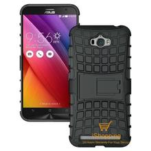 Tire Style Tough Rugged Dual Layer Hybrid Hard KickStand Duty Armor Case for Asus Zenfone Max ZC550KL Mobile Phone Bags(China (Mainland))