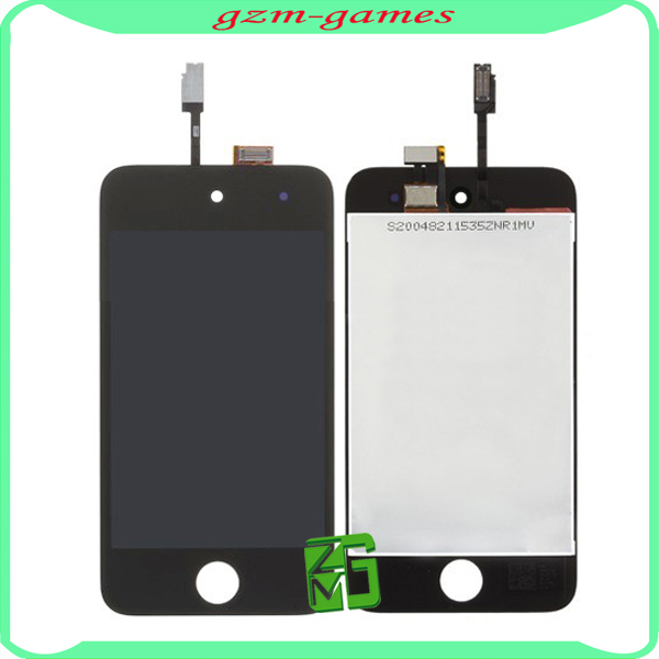 10pcs/lot For ipod Touch 4 4th LCD Display+ Touch Screen Glass Complete Assembly Free Shipping(China (Mainland))