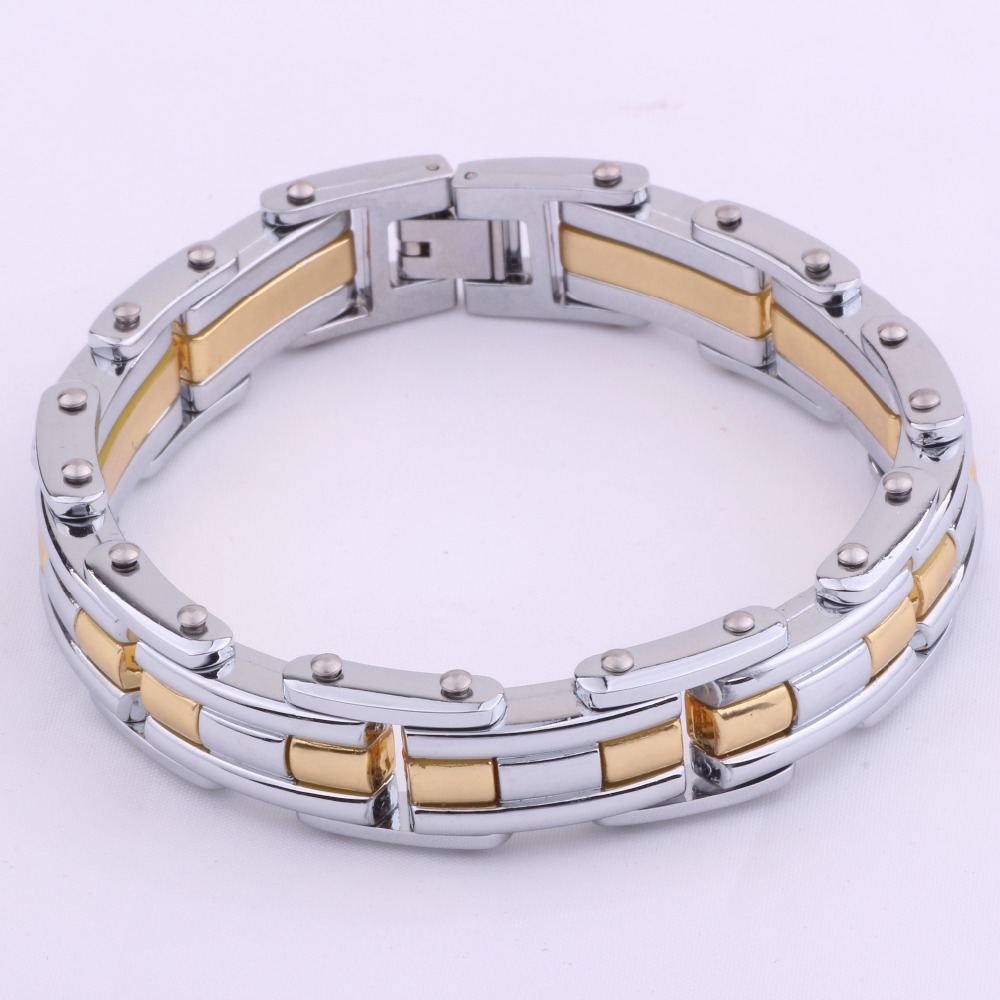 HOT men's Stainless Steel Bracelet casual new fashion titanium steel jewelry 2015 - DAFU JEWELRY store
