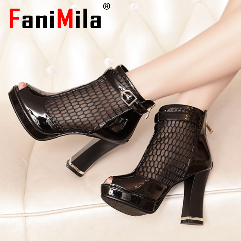 women platform high heel shoes cutout brand lady spring peep toe fashion heeled pumps heels shoes plus big size 32-44 P16862<br><br>Aliexpress