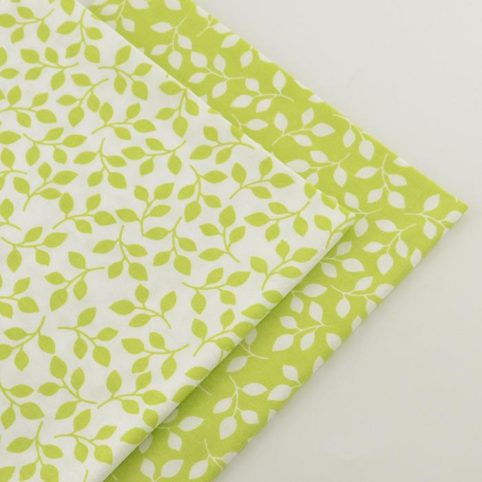 2 pieces green 40cmx50cm Cotton Fabric quilting tissue tecido tida Sewing fabrics for patchwork cheap tecidos para roupa(China (Mainland))