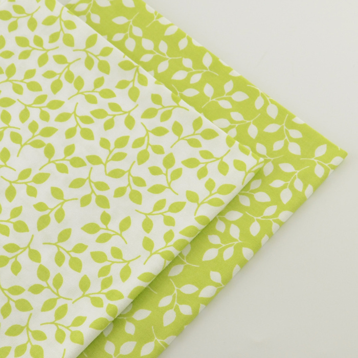 2 pieces green 40cmx50cm cotton fabric quilting tissue for Cheap sewing fabric