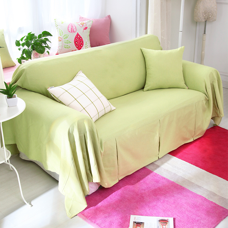 US $46.22 |Ice Cream Color Sofa Cover Slip resistant Sofa Cover Solid Color  Cotton Sofa Cover Customize Accept-in Sofa Cover from Home & Garden on ...