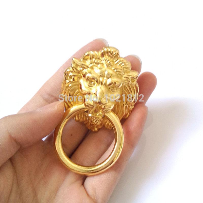 10pcs Antique Golden Lion Head Cabinet Handles Knob Drawer Pull Closet Drawer Door Hardware Kitchen Pull(China (Mainland))