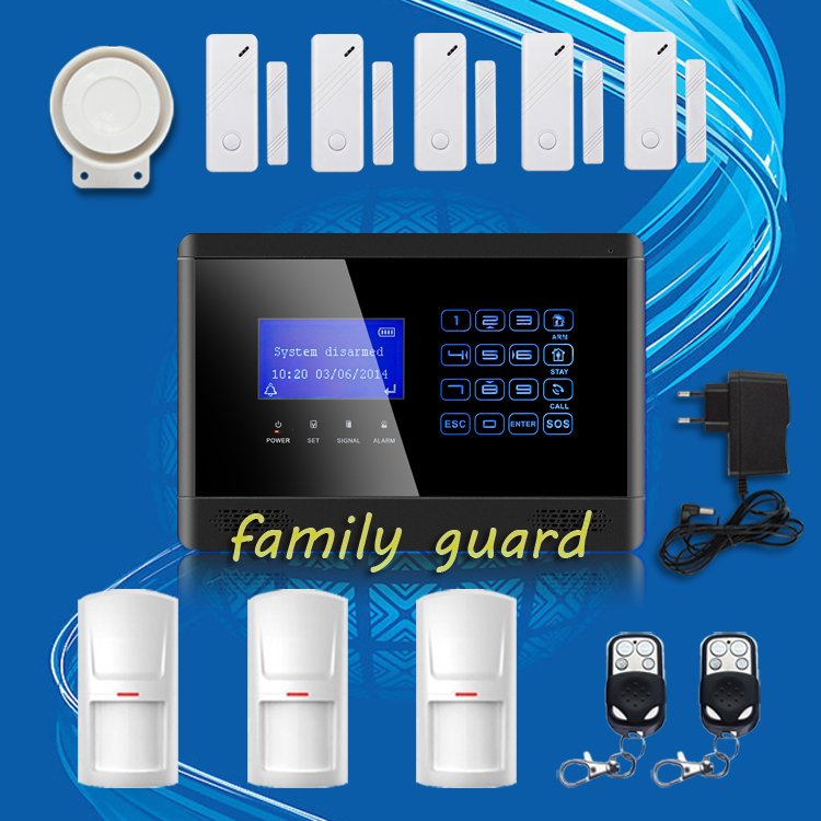 Free Shipping!M2BX Wireless GSM SMS TEXT Touch Keypad Home House Alarm System Touch Screen High Quality 3 PCS PIR+5 Door Sensors<br><br>Aliexpress