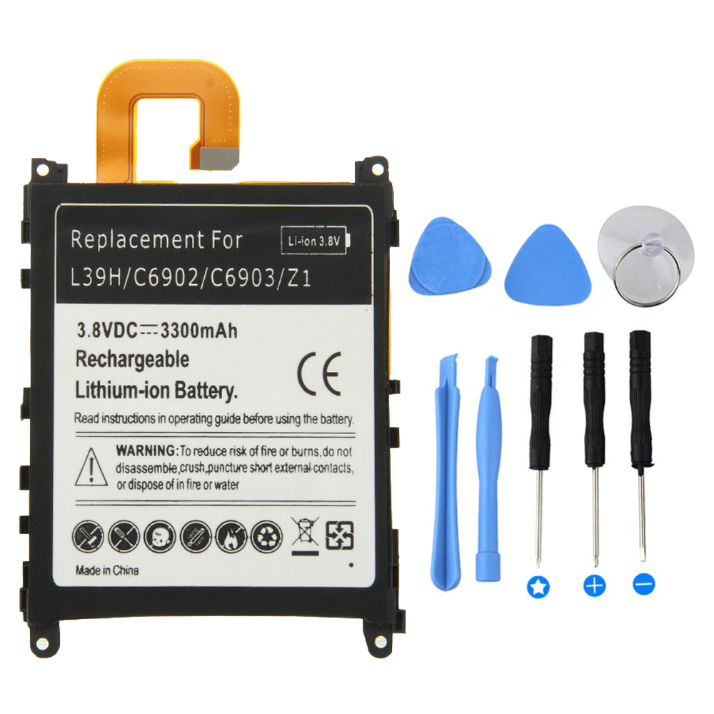 3300mah Top Quality Battery For Sony Xperia Z1 L39H C6902 C6903 Z 1 Mobile Phone Battery For Sony Z1 Battery +Tool(China (Mainland))