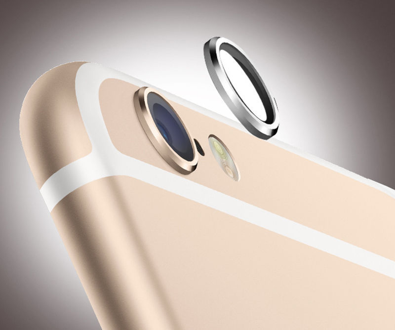 Top quality Black Metal Lens Protector Ring for iPhone 6 4.7 inch/Plus Rear Camera Phone Camera Lens Protector