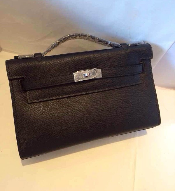 Free Shipping Women Luxury Designer Topest Qualtiy Epsom Original Leather Mini 22CM Clutch Bag With Gold Hardware<br><br>Aliexpress