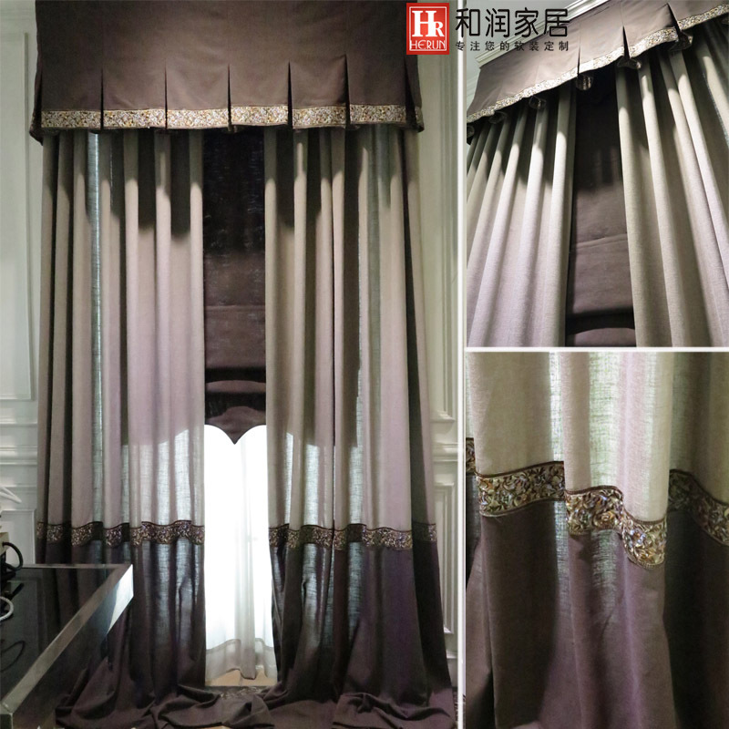 new country style color cotton curtains living room
