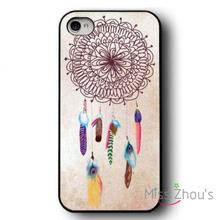 For iphone 4/4s 5/5s 5c SE 6/6s plus ipod touch 4/5/6 back skins mobile cellphone cases cover Unique Colourful Dreamcatcher