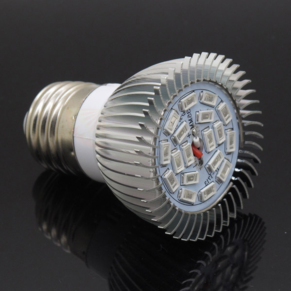 E27 18W Lamp Bulb Full Spectrum LED Grow Light SMD5730 18LEDs for Flowering Plant and Hydroponics System Growing Box AC 85-265V(China (Mainland))