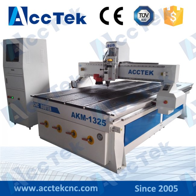 3.5kw Air Cooling Spindle Vacuum table with water pump cnc woodworking machine AKM1325(China (Mainland))