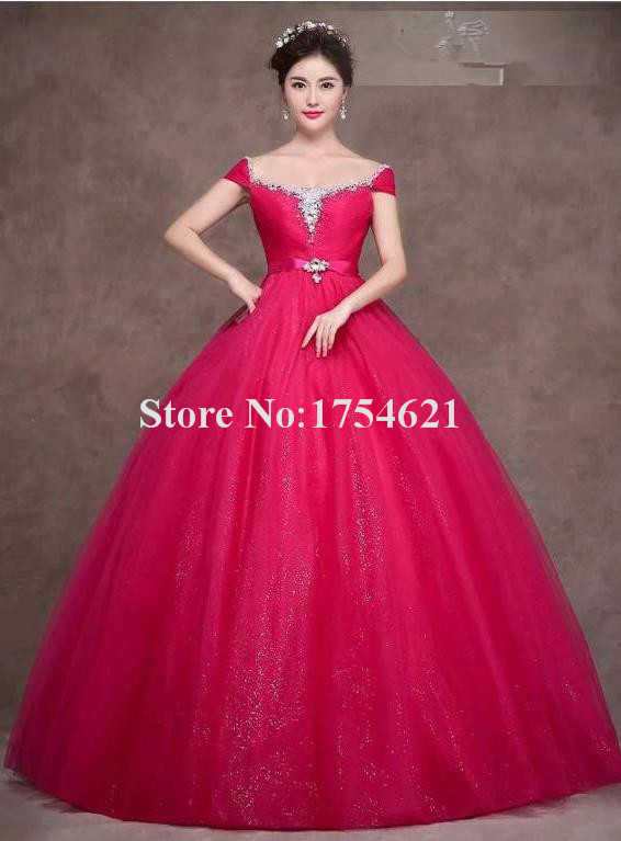 Pink Ball Gown With Sleeves Www Imgkid Com The Image