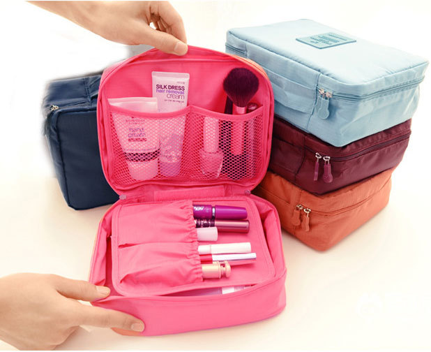 Гаджет  Womens Cosmetic pouch Travel Makeup Bag Clutch Handbags Casual Purse Travel Cosmetic Makeup Bag Case Toiletry Bathing Pouch None Камера и Сумки