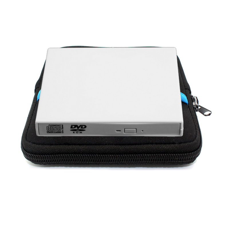 External USB 2.0 DVD drive Combo Recorder CD/DVD-ROM Player Portable Optical Drive white For Computer pc, Windows7/8 +Drive bag(China (Mainland))
