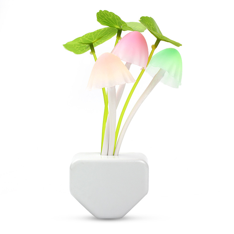 Flower Shaped Motion Sensor Led Night Light Wall Lamp US Plug Romantic Rose Flower For Lover/Valentine/Wedding Decoration(China (Mainland))