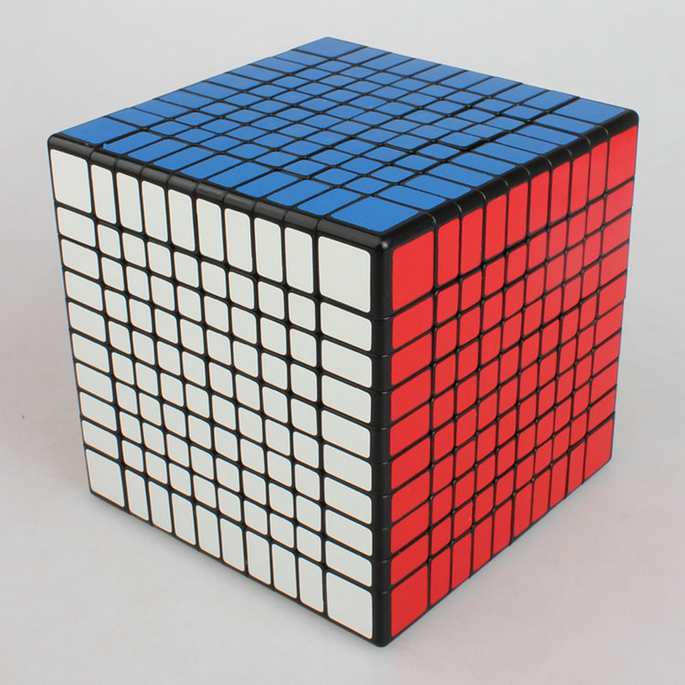 Фотография Brand New Shengshou 102mm Plastic Speed Puzzle 10x10x10 Magic Cube Educational Toys For Children Kids Baby