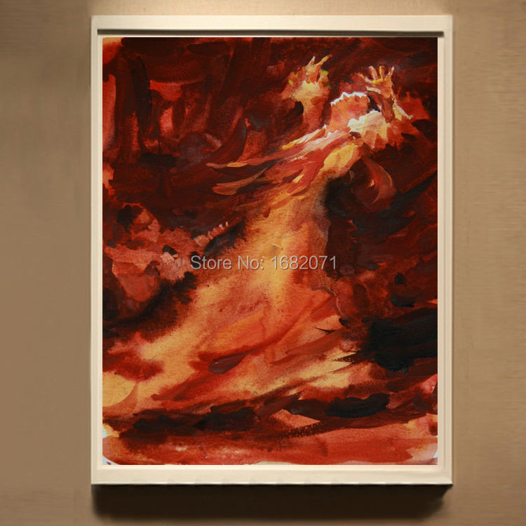 Dafen Oil Painting Professional Manufacturer Directly Supply High Quality Abstract Spanish Lady Dancer Dancing Oil Paintings(China (Mainland))