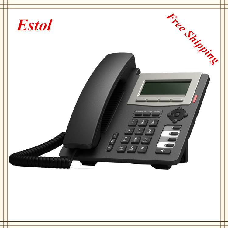 Hot Sale, Free Shipping, Voip Phone, 2 SIP lines+1IAX2 line, Full Duplex Communication, HD Voice,BLF keys(China (Mainland))
