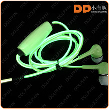 China mobile phone new version high quality EL lights earphone earbuds