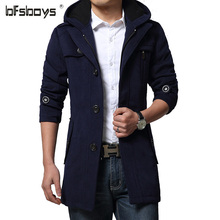 Wool & Blends Men 2016 Fashion New Design Casual Solid Single Breasted Lapel Man's Coat Size M~XXL DY26-P125(China (Mainland))