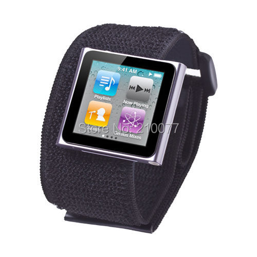 Black Sport Gym Armband Case Cover Skin For Apple iPod Nano 6 6G 6th Gen FREE SHIPPING(China (Mainland))
