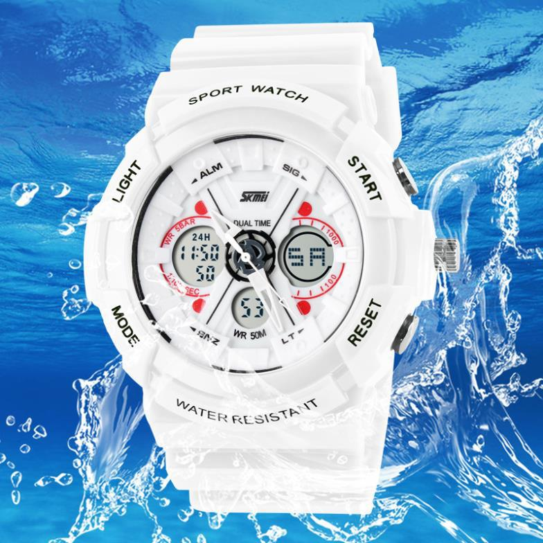 Гаджет  Men sport watch waterproof LED electronic watches military rubber band woman fashion casual relogio Masculino Wristwatches None Часы