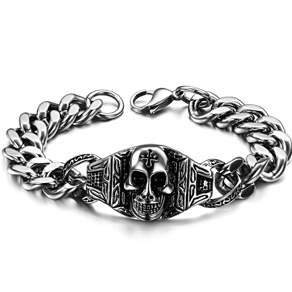 bracciale Accessories hot-selling 2015 personality vintage skull bracelet snap jewelry gs617 stardust  -  Vivi LUO's store store