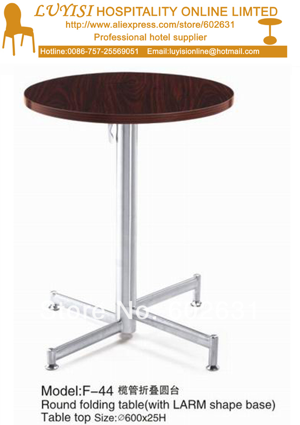 Cocktail coffee round folding table stainless steel base for Table cuisine retractable