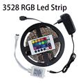 3528 60Leds M 5M LED Strip Light Kit Non Waterproof RGB Single Color IR Remote Controller