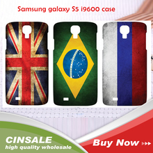 2014 New High Quality Print Picture PC Case for Samsung galaxy S5 i9600 DIY Flag Picture For Brazil World Cup 100pcs wholesale (China (Mainland))