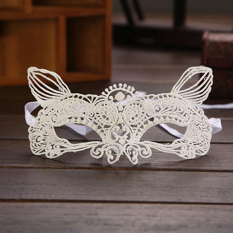 Sexy Black/White Eye Lace Mask Masquerade Hollow Catwoman Face Mask Fancy Dress Nightclub Wedding Party Dress Mask Supplies(China (Mainland))