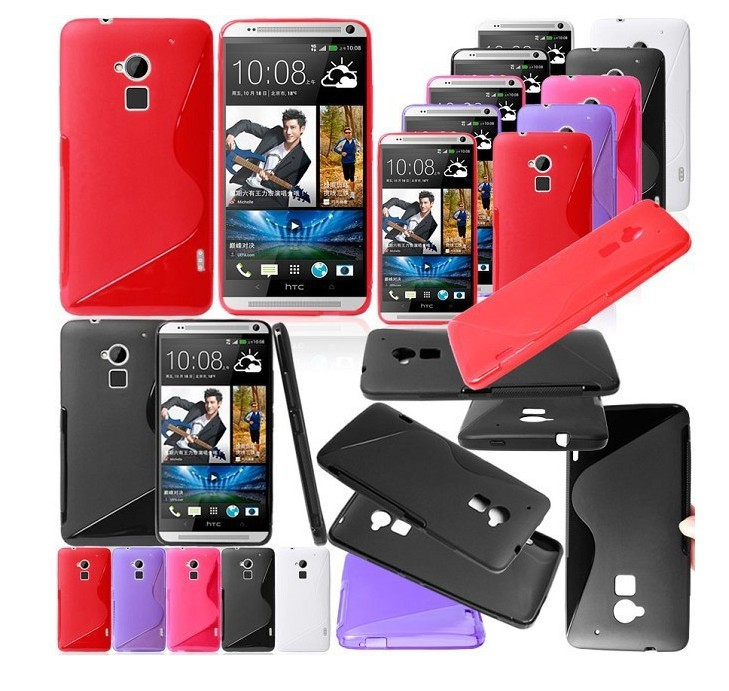 S LINE Anti Skiding Gel TPU Slim Soft Matte Case For HTC ONE MAX T6 via China Post Registered Air Mail(China (Mainland))