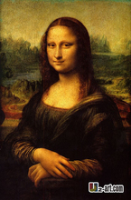 Cotton Canvas Prints by Da Vinci Mona Lisa giclee prints on canvas famous oil painting reproduction(China (Mainland))
