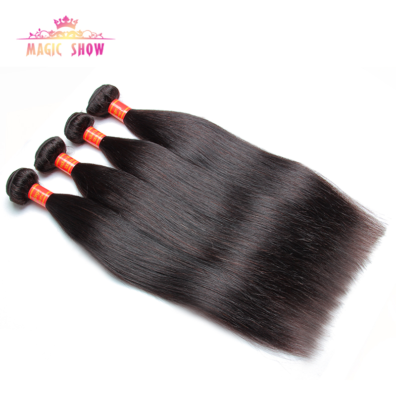 Indian virgin hair straight unprocessed human hair extension indian straight hair weaves 4pcs 8''- 30'' cheap human hair weave