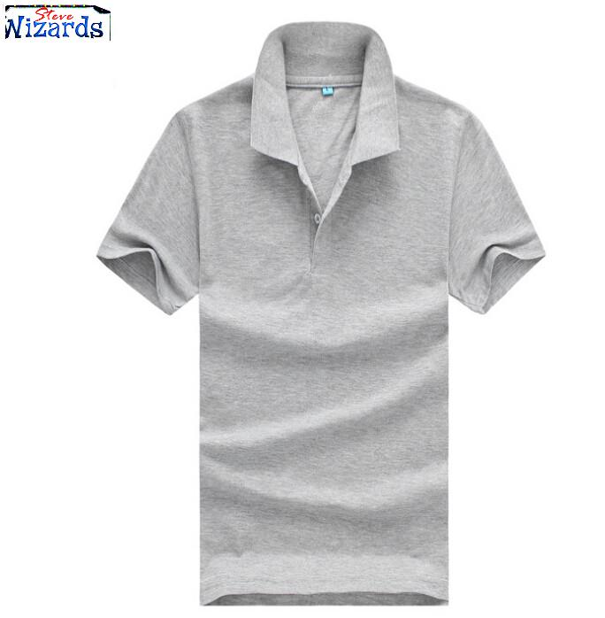 2015 new summer collar polo shirt men clothing solid mens for Business casual polo shirt