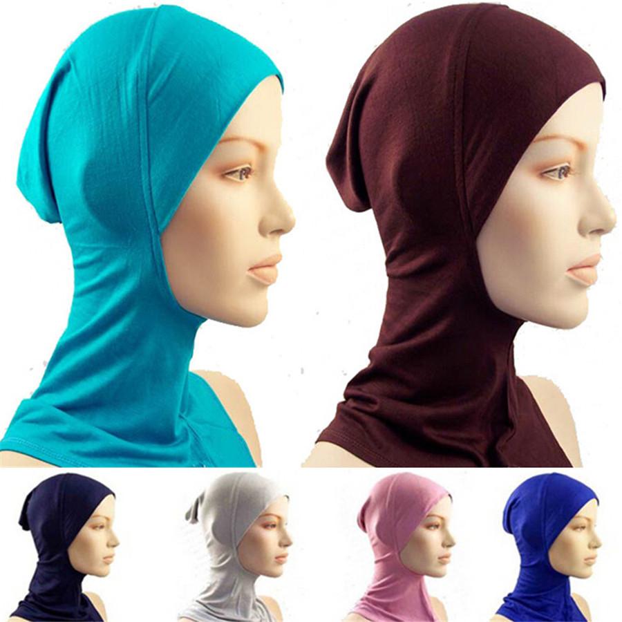 Mixed Colors 30Pcs Muslim Hats Full Cover Inner Hat Cotton Hijab Cap Islamic Head Wear Under Scarfs Allah Caps Underscarf Women(China (Mainland))