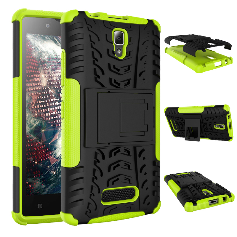 100% New Dual Armor Case with Stand Holder For Lenovo A2010 TPU&Hard Plastic Shock Proof Anti-Skid Combo Case(China (Mainland))
