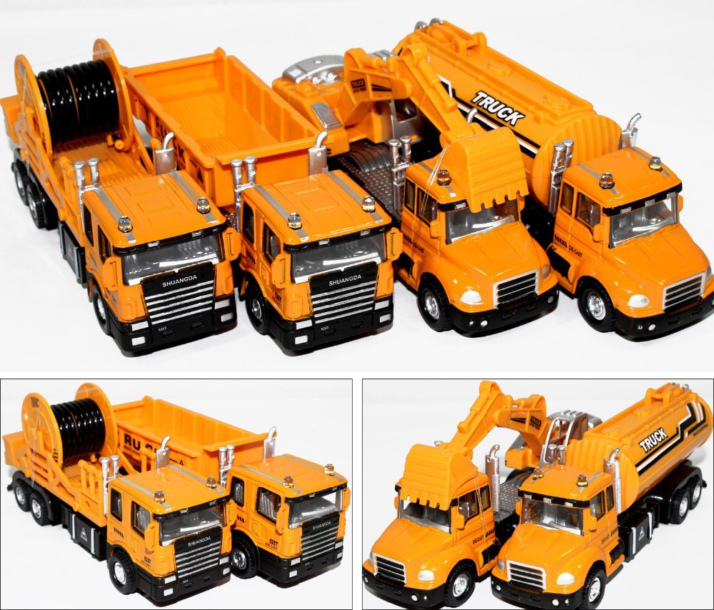 2015 Specials Diecast cars, 1:50 alloy construction vehicles, trucks, mixer, excavators, lowest price, free shipping(China (Mainland))