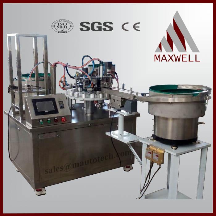 semi-automatic cyanoacrylate adhesive glue filling capping machine - WUXI MAXWELL AUTOMATION TECHNOLOGY CO., LTD. store