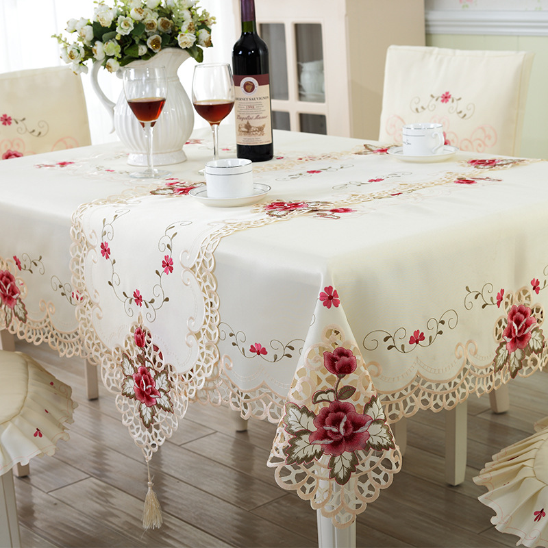 Ou Only Beautiful Embroidered Tablecloths Hollow Out Romantic Table Table Cloth Tablecloth(China (Mainland))