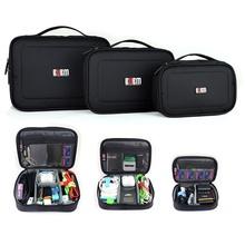 3PCS/Set BUBM Travel Digital Storage Bag Electronic Accessories Cable Organizer Bag Hard Drive Cable Pen Drive Case organizador(China (Mainland))