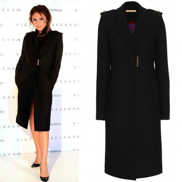 Ladies long black dress coat – Novelties of modern fashion photo blog