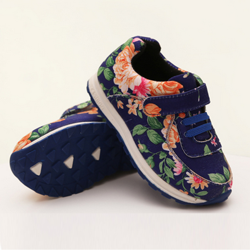 Kids Shoes High Quality Children Floral Shoes Boys Girls Child Fashion Shoes Sport Outdoor Kids New Brand Sneakers S110385(China (Mainland))
