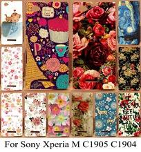 Защитный чехол для Sony Xperia M C1905 C1904 C2004 C2005 красочный цветок оболочки кожи