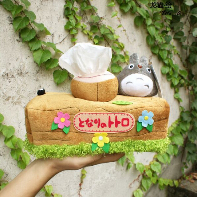 1pcs Lovely Chinchillas Totoro Plush Doll Toy Tissue Boxes Extraction Household Product Totoro Gifts For Girls Free Shipping(China (Mainland))
