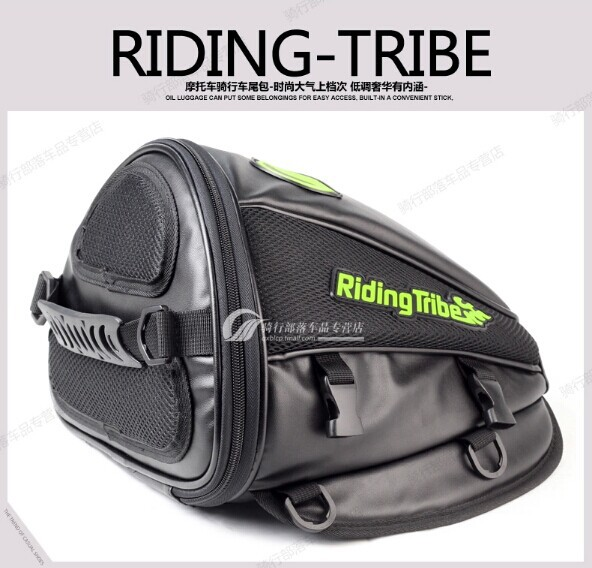 Knights motorcycle tank bag rear side of the back seat of Mount Bag Microfiber Leather multifunction long trip packages(China (Mainland))
